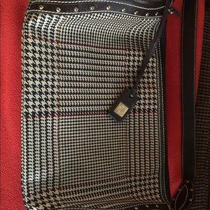 Ralph Lauren Leather Houndstooth Purse